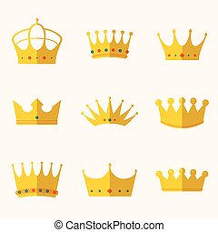 vintage antique crowns