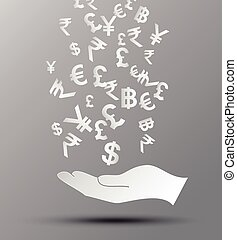 concept of money. - Vector illustration concept of...
