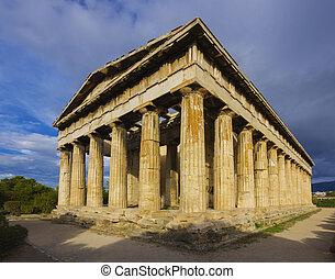 templo, de, Hephaistos, en, atenas, Gre,