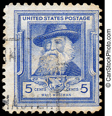 Stamp printed in USA shows Walt Whitman - UNITED STATES OF...