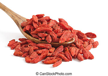 Red dried goji berries - Dry red goji berries for a healthy...