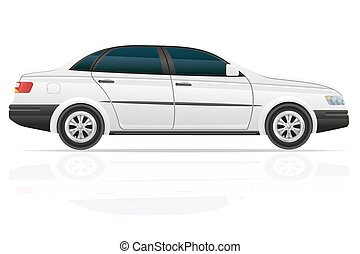 car sedan vector illustration isolated on white background