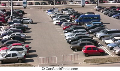 parking many cars