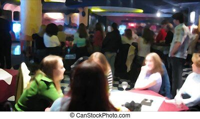 night club time lapse. Filtered. No faces. - In night club,...