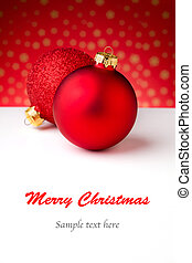Chistmas Greeting Card - Close up photograph of some...