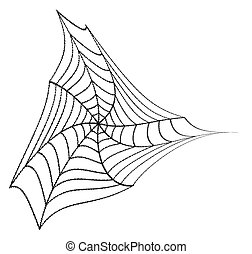 Halloween Spider Web Element
