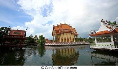 Thailand Koh Samui 20 july 2014 Tourists visit buddhist...