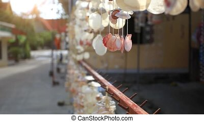 Mobile shell for hanging in thai market to be beautiful. HD....