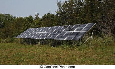 Solar array in rural area. Prince Edward County, Ontario,...