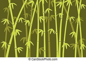 Bamboo forest - Background image of bamboo forest silhouette...