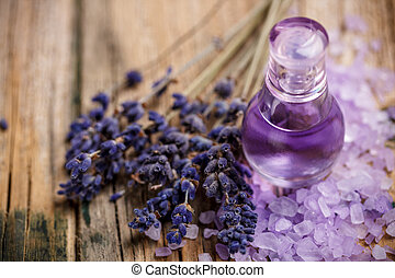 Lavender perfume in little glass