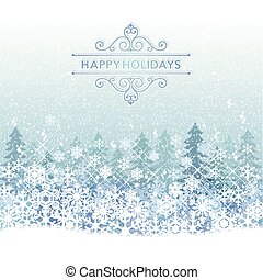 Winter Holiday background with blue snow sceneryFile...