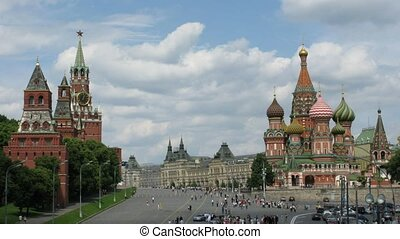 moscow time lapse - Moscow city, time lapse