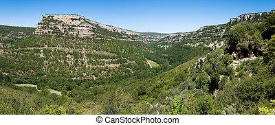 Ebro canyon - image of the Ebro river canyon passing through...