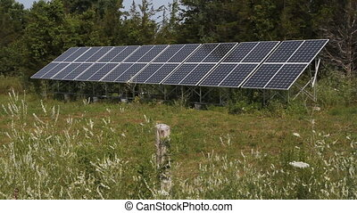 Solar array in rural area Prince Edward County, Ontario,...
