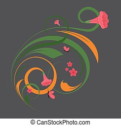 Abstract Flora Decorative Design