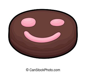 Happy Smiley Chocolate Candy - Abstract Happy Smiley...