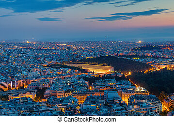 Athens with the old olympic stadium