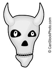 Halloween Spooky Animal Skull