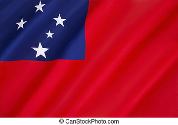 Flag of Samoa - adopted on 24th February 1949 for UN...