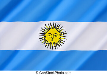 Flag of Argentina - Adopted 27th February 1812. The yellow...