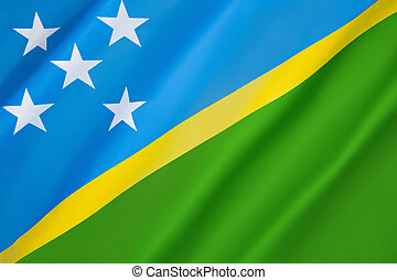 Flag of the Solomon Islands - Adopted officially on 18th...
