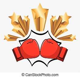boxing design  - boxing graphic design , vector illustration