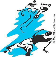 Capoeira. Vector graphic illustration for capoeira theme