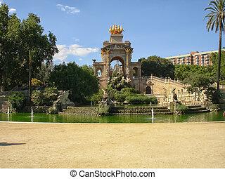 Ciutadella Park Fountain in Barcelona