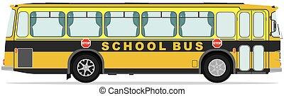 Vintage bus Vector illustration