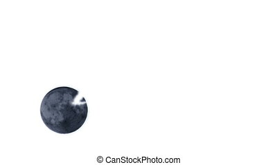 Inverted Supermoon timelapse - Timelapse of full moon moving...