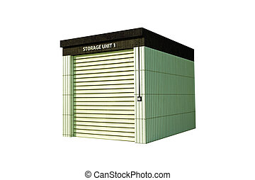 self storage isolated on white background