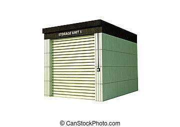 self storage isolated on white background