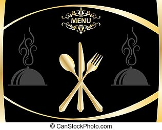 Menu Card Design Template Vector Art