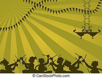 Shadow Art, Garba Dance