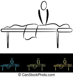 Massage Table - An image of a massage table