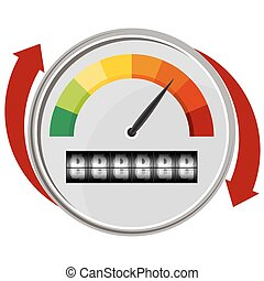 Warning Gauge - An image of a warning gauge