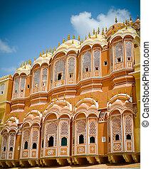 Hawa Mahal court facade - Hawa Mahal palace (Palace of the...