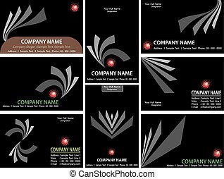 Business Card Design Vector Art