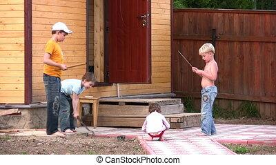 children oudoor home yard