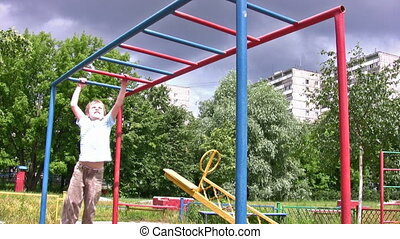horizontal bar sport hang child