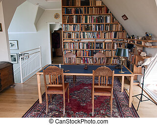Study room home office - Classical design study reading room...