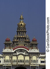 ASIA INDIA KARNATAKA - the Palace in the city of Mysore in...