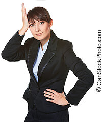 confused business woman - Portrait of confused business...