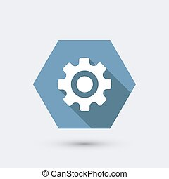 vector modern flat icon with long shadow Eps10