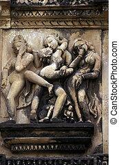 ASIA INDIA KHAJURAHO - The Temple of Khajuraho in the...