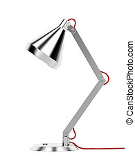 Lamp - Modern desk lamp on white background