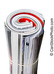 Rolled Up Magazines - Rolled up magazines isolated over...