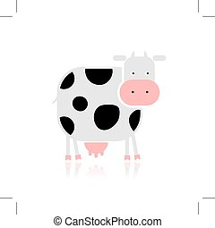 Funny cow for your design. Vector illustration