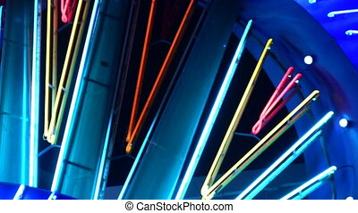 night neon light casino